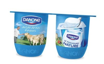 packaging yaourt danone